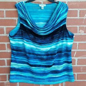 Calvin Klein ocean waves top, sz 1X